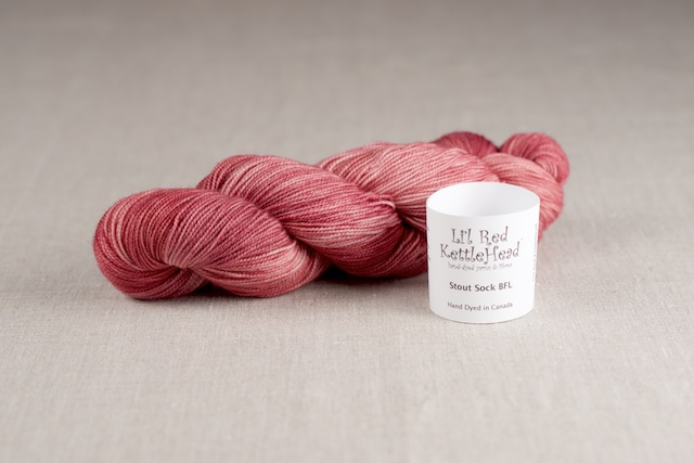 Stout Sock BFL - Pink Lady